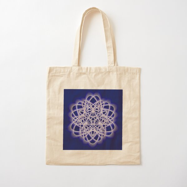 Abstract Dark Blue Violet Atomic Swaps Cotton Tote Bag