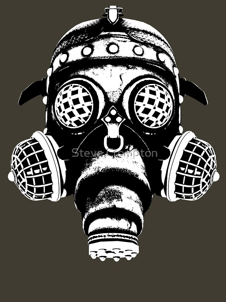 Steampunk/Cyberpunk Gas Mask #1A Steampunk T-Shirts by SC001