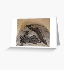 Wall Art In Assisi, Italy Greeting Card