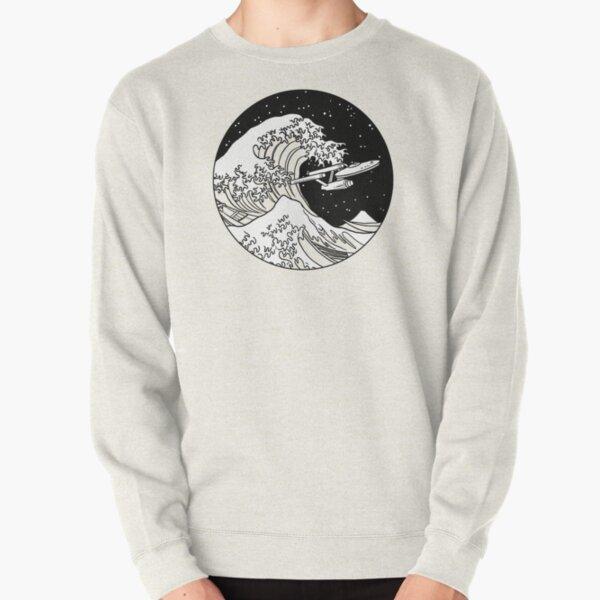 Trek Spaceship in Space - The Great Wave Pullover Sweatshirt