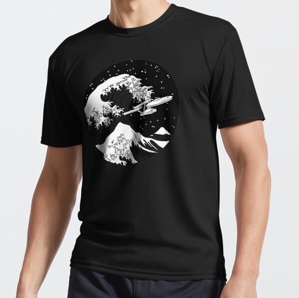 Trek Spaceship in Space - The Great Wave Active T-Shirt