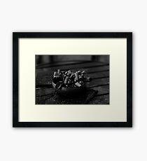 Dog-Ends Framed Print