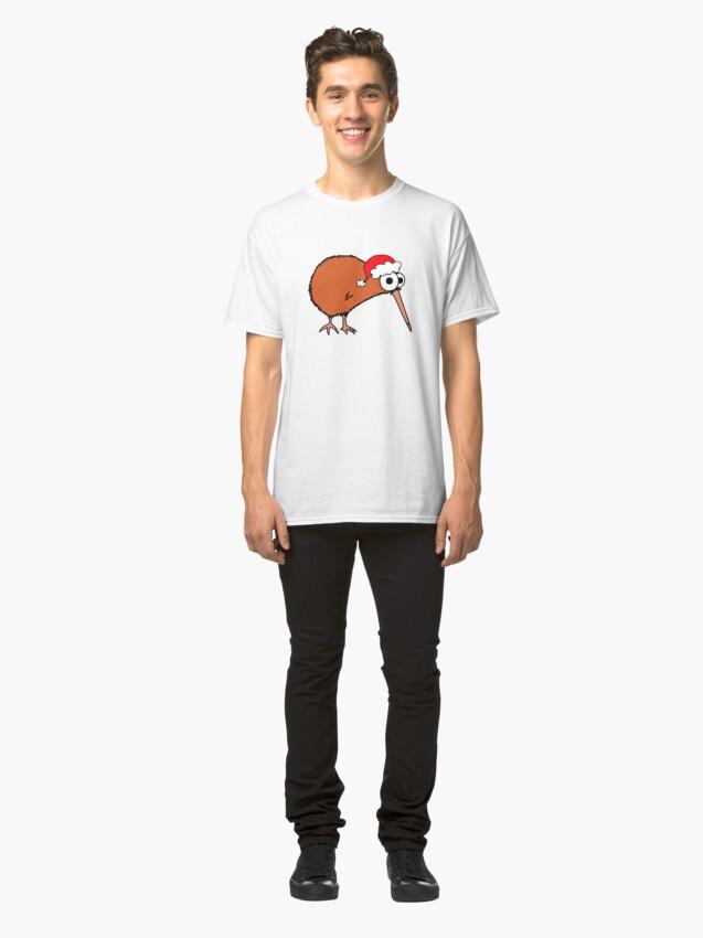 Alternate view of Christmas Kiwi - on white Classic T-Shirt