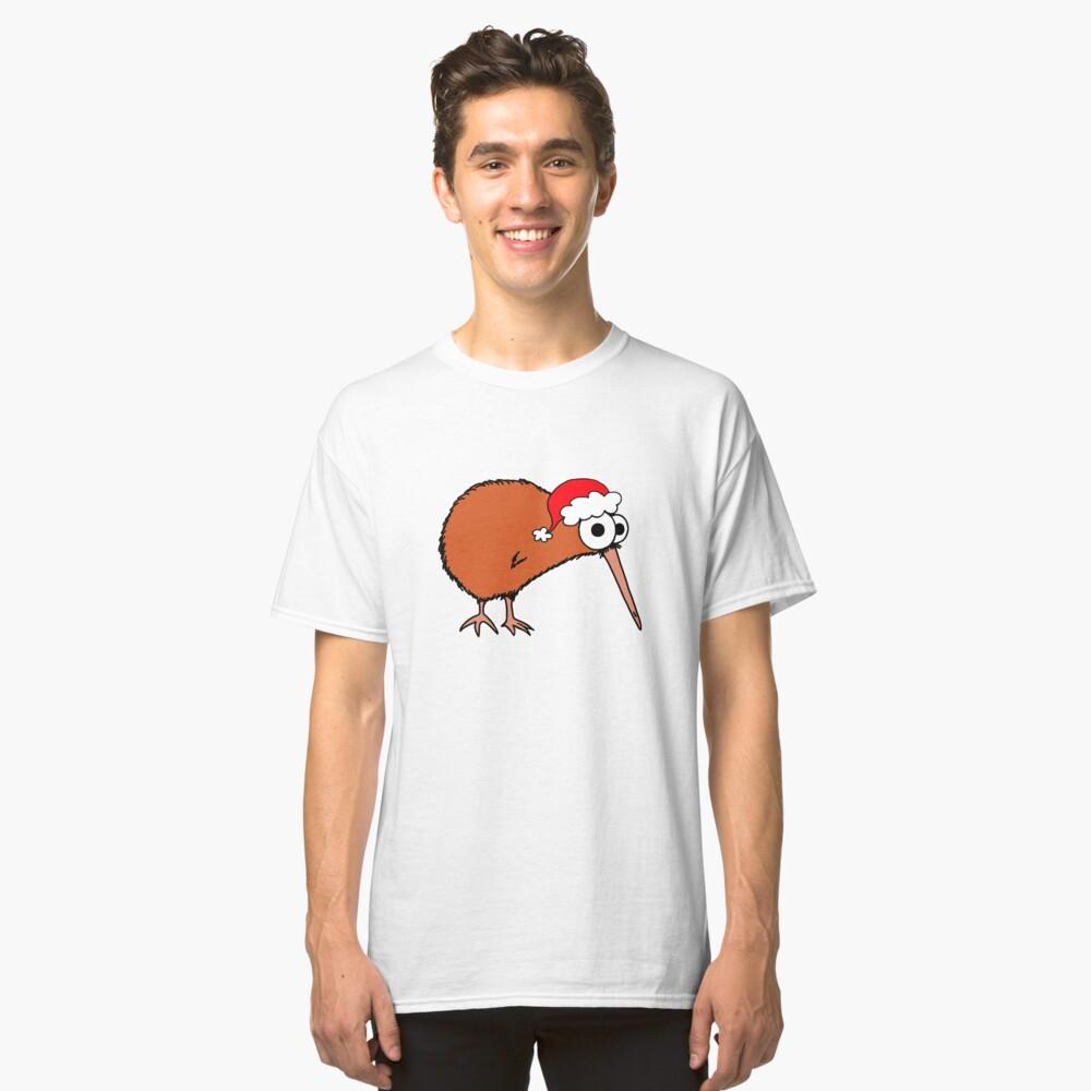 Christmas Kiwi - on white Classic T-Shirt