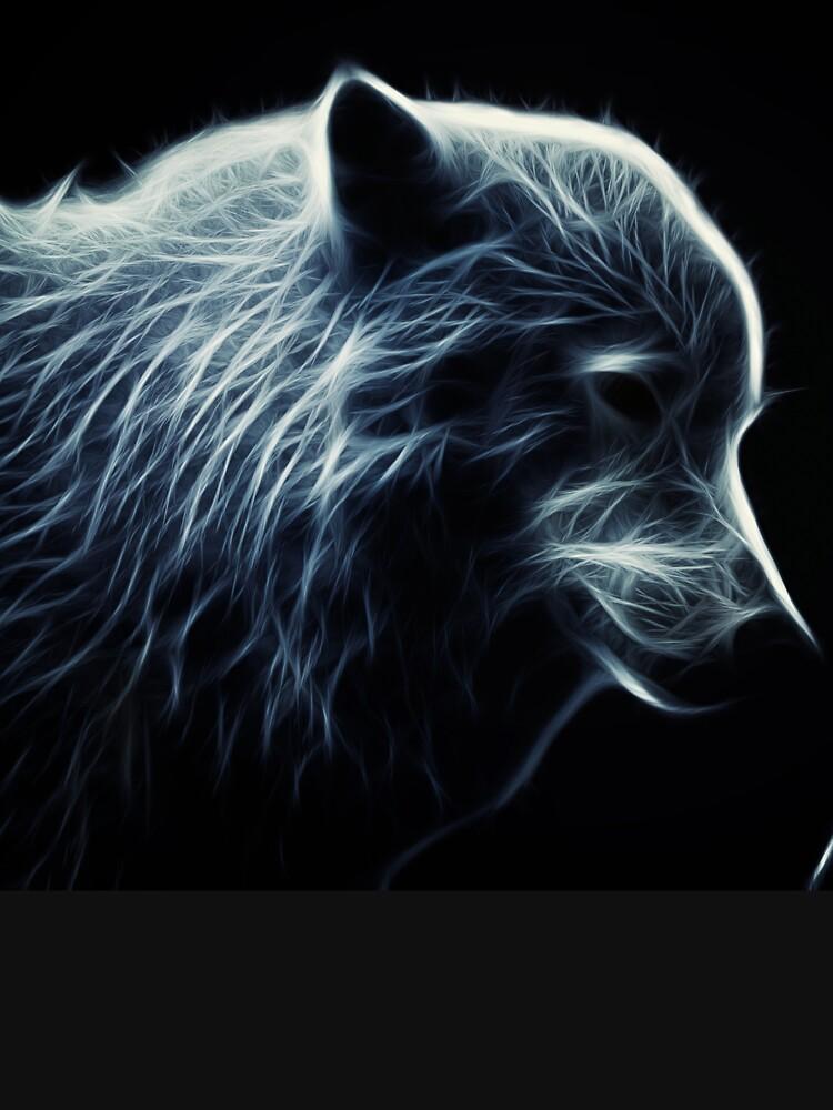 Wolf made of light by liesjes