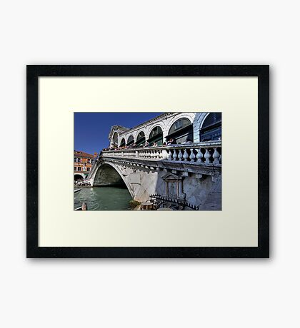 Rialto Bridge - Venice Framed Print