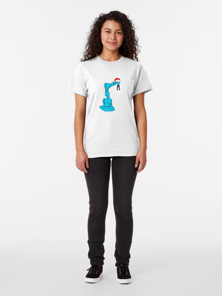 Alternate view of Christmas Robot - on white Classic T-Shirt