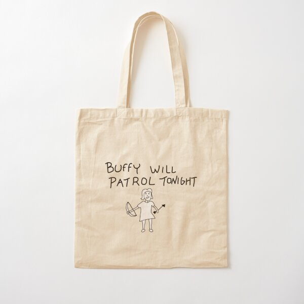 Buffy Will Patrol Tonight Cotton Tote Bag