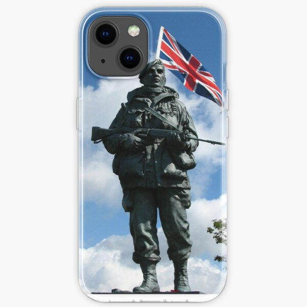 Royal Marines Statue, Portsmouth iPhone Soft Case