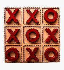 Noughts & Crosses Photographic Print