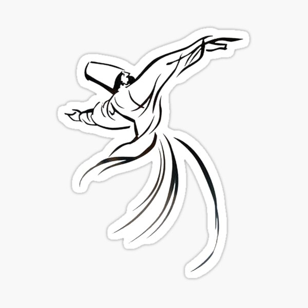 Sufi Meditation Embracing Humanity With Love Sticker