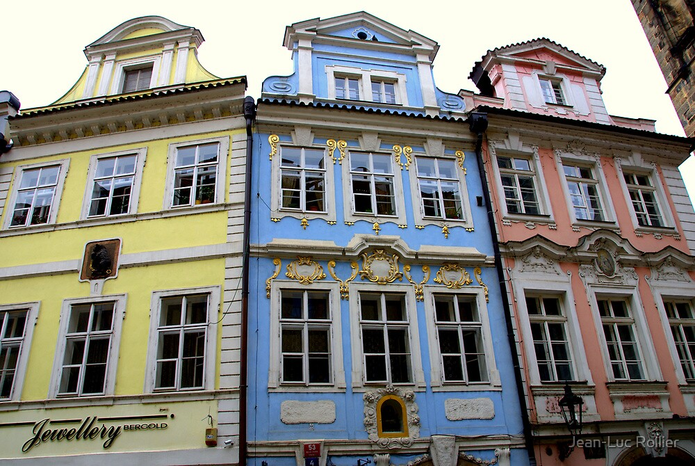 Prague - Facades by Jean-Luc Rollier