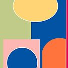 Colourful Nordic Scandi abstract print by Jen Fullerton