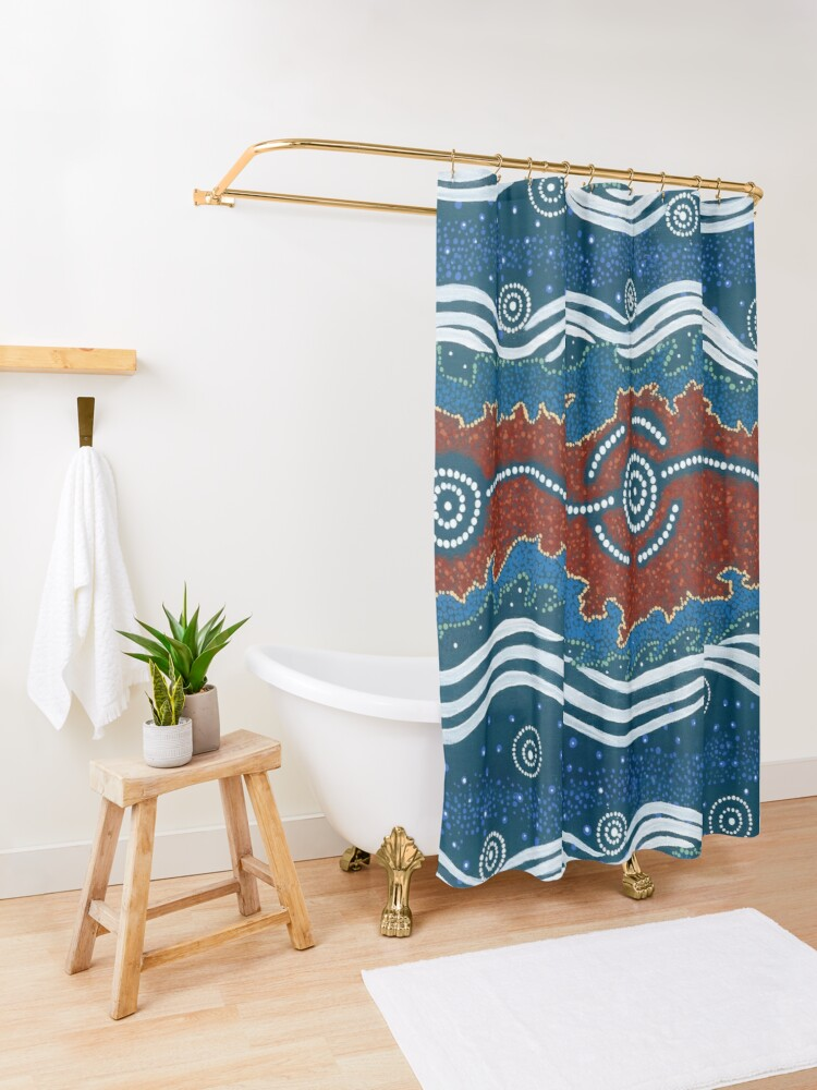 Alternate view of 3 Lore / Creation Story Shower Curtain
