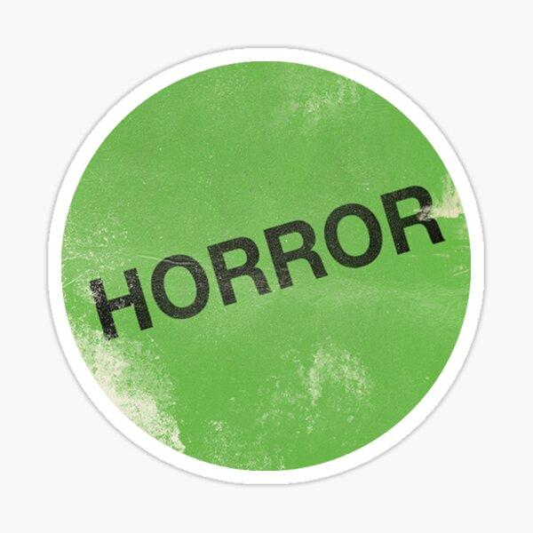 """Horror - """"Etiqueta verde"""" 【Horror】 Diseño (1980) Pegatina"""