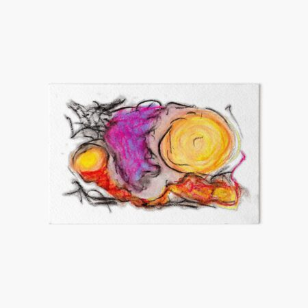 sdtho_art | oil pastel on paper - abstract Art Board Print