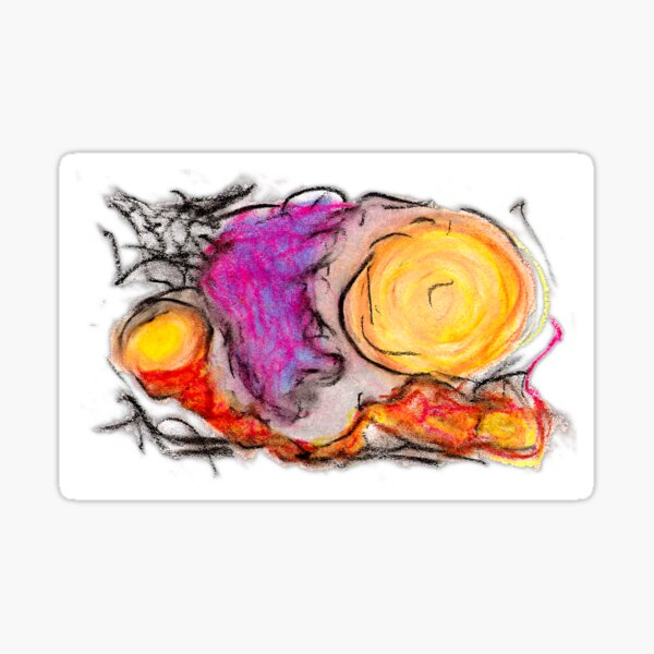 sdtho_art | oil pastel on paper - abstract Sticker