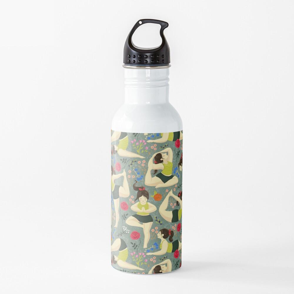 Yoga Love in blue Water Bottle