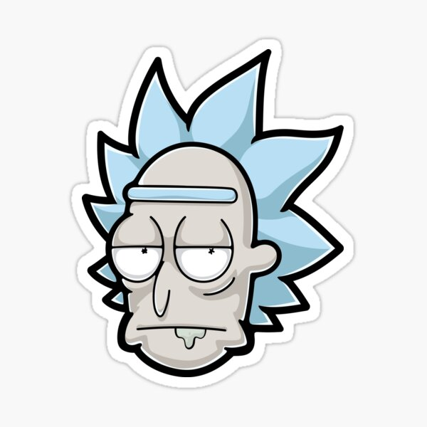 Bored Rick Sanchez Sticker