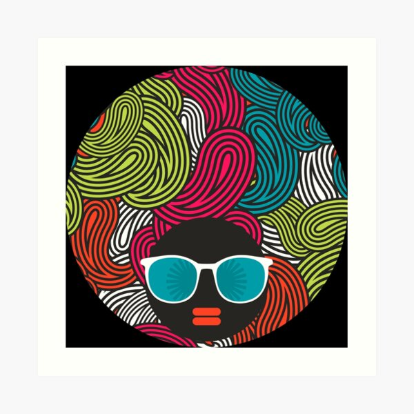Almost Paisley Afros  Art Print