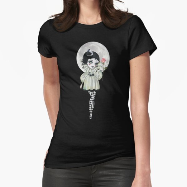 Pierrette Under the Icy Moon Fitted T-Shirt