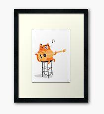 Feline Groovy Framed Print