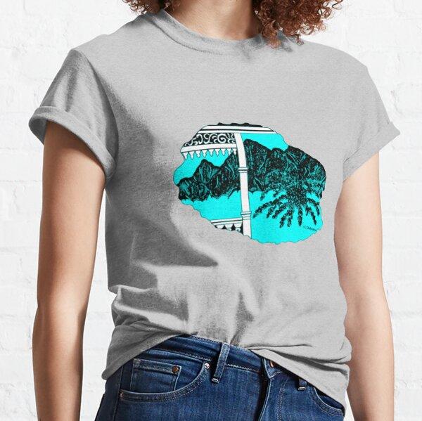 Map of Reunion Island, Indian Ocean, France Classic T-Shirt