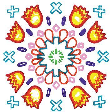 Ilamas y Cruces Azules by CuccuCollective