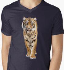Tiger T-Shirt mit V-Ausschnitt