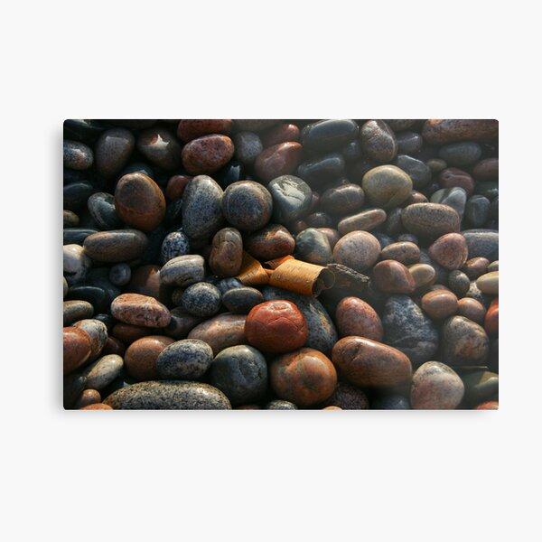 Lake Superior Pebbles Metal Print