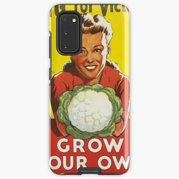Vintage Dig For Victory Grow Your Own Vegetables WW2 Poster Samsung Galaxy Tough Case