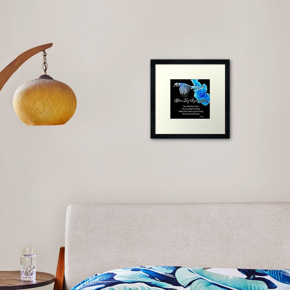 Blue Jay Symbolism Framed Art Print