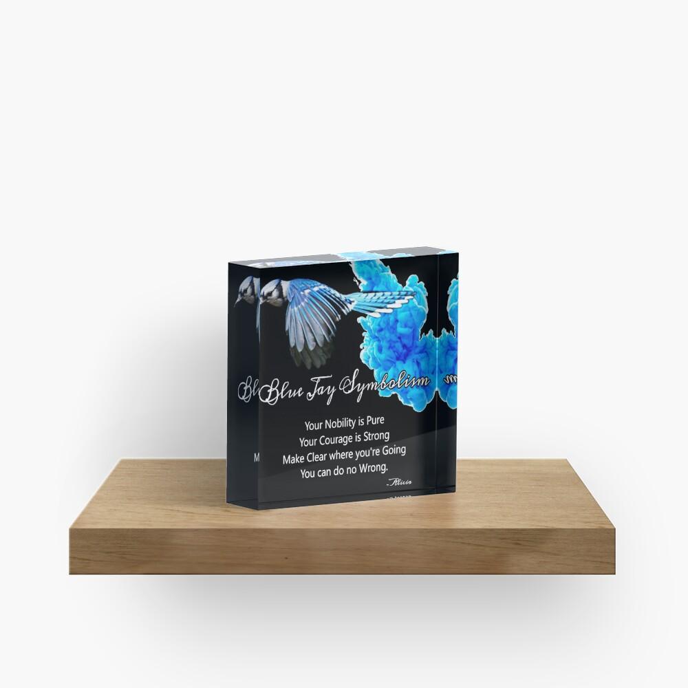 Blue Jay Symbolism Acrylic Block