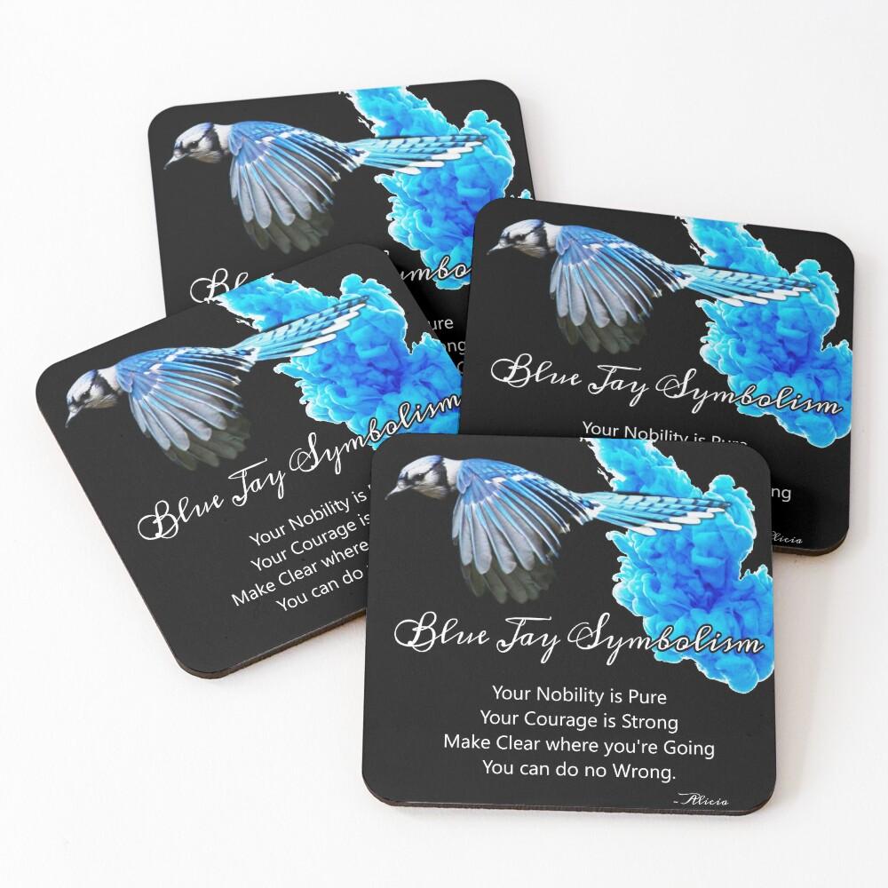 Blue Jay Symbolism Coasters (Set of 4)