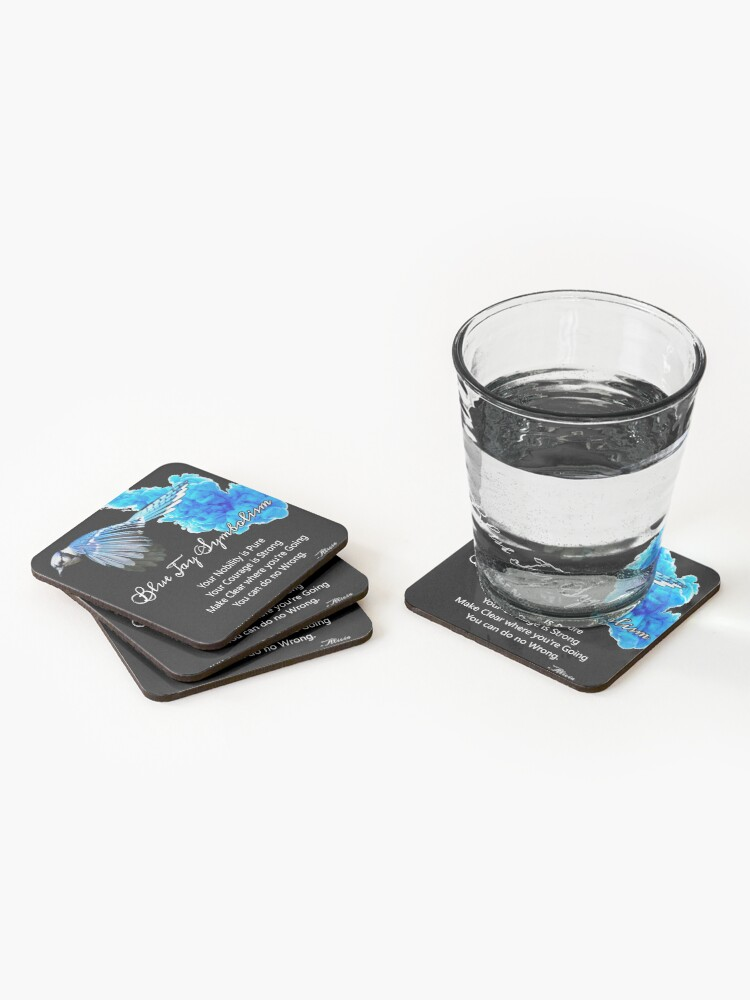 Alternate view of Blue Jay Symbolism Coasters (Set of 4)
