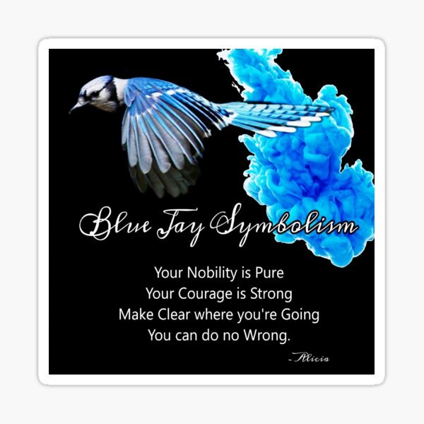 Blue Jay Symbolism Sticker
