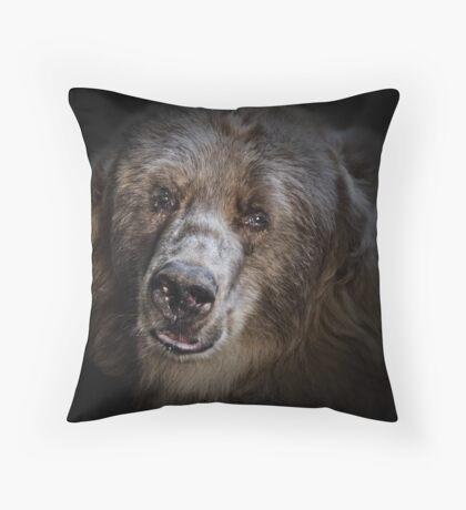 The Kodiak Bear Throw Pillow