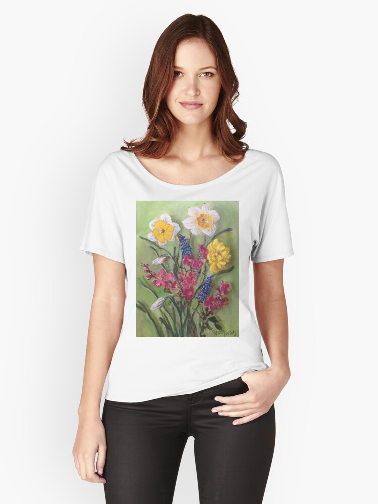 Spring Flowers Women's Relaxed Fit T-Shirt Front