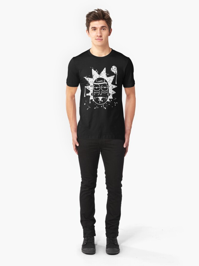 Alternate view of Dripping Rick Sanchez White Slim Fit T-Shirt