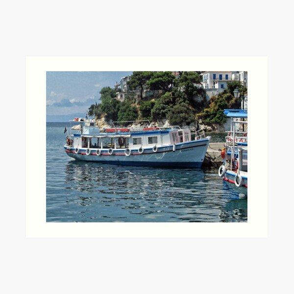 Enjoy a trip around the Greek Island of Skiathos,, Art Print