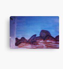 Big Boulders and Rocks  to  Cimb, watercolor Canvas Print