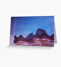 Big Boulders and Rocks  to  Cimb, watercolor Greeting Card