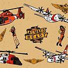 Coast Guard Aviation Flash Sheet by AlwaysReadyCltv