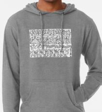 Keith Haring Black and White Lightweight Hoodie