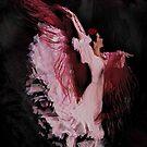 Bailaora in pink dancing by Dulcina