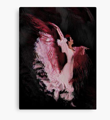 Bailaora in pink dancing Canvas Print