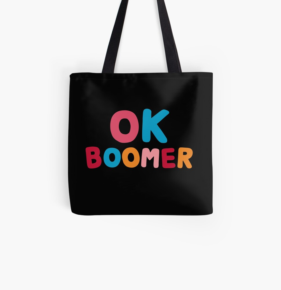 Ok boomer All Over Print Tote Bag