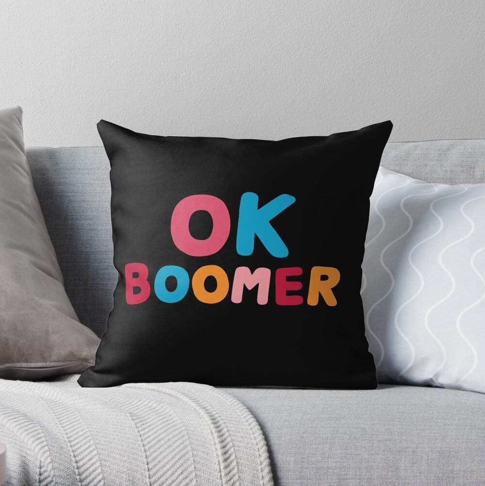 Ok boomer Throw Pillow