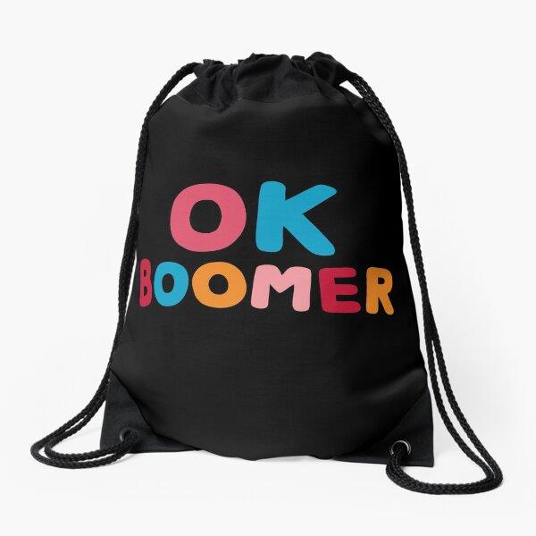 Ok boomer Drawstring Bag