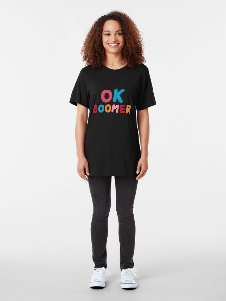Alternate view of Ok boomer Slim Fit T-Shirt